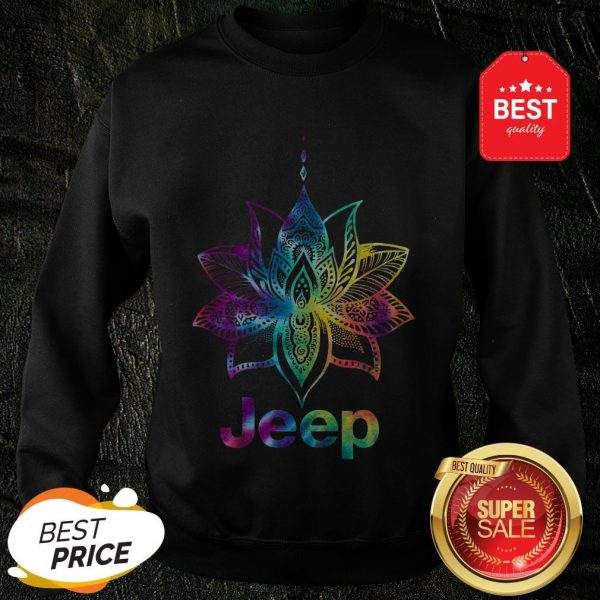 Official Jeep Mandala Lotus Tiedye Sweatshirt