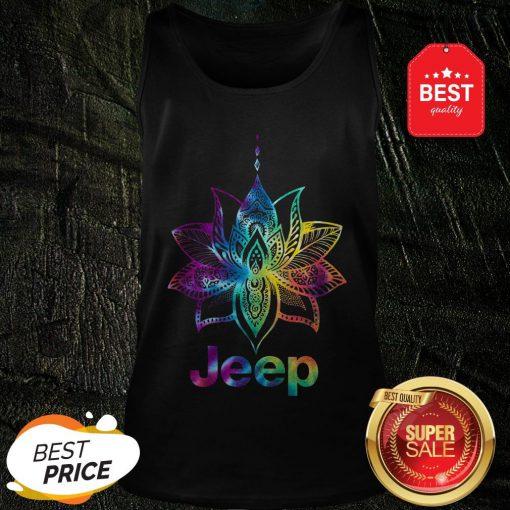 Official Jeep Mandala Lotus Tiedye Tank Top