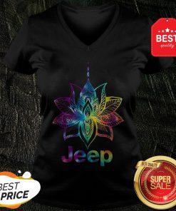 Official Jeep Mandala Lotus Tiedye V-Neck