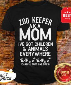 Badass Version Zoo Keeper Aka Mom I've Got Children And Animals Everywhere Shirt