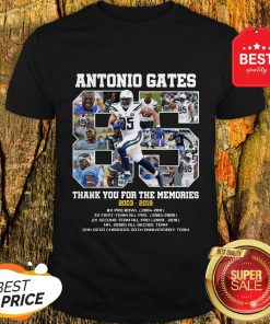 Good Antonio Gates 85 Thank You For The Memories 2003 2019 8X Pro Bowl Shirt