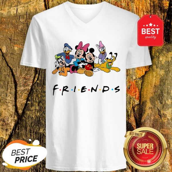 Good Group Of Disney Characters Friends V-Neck
