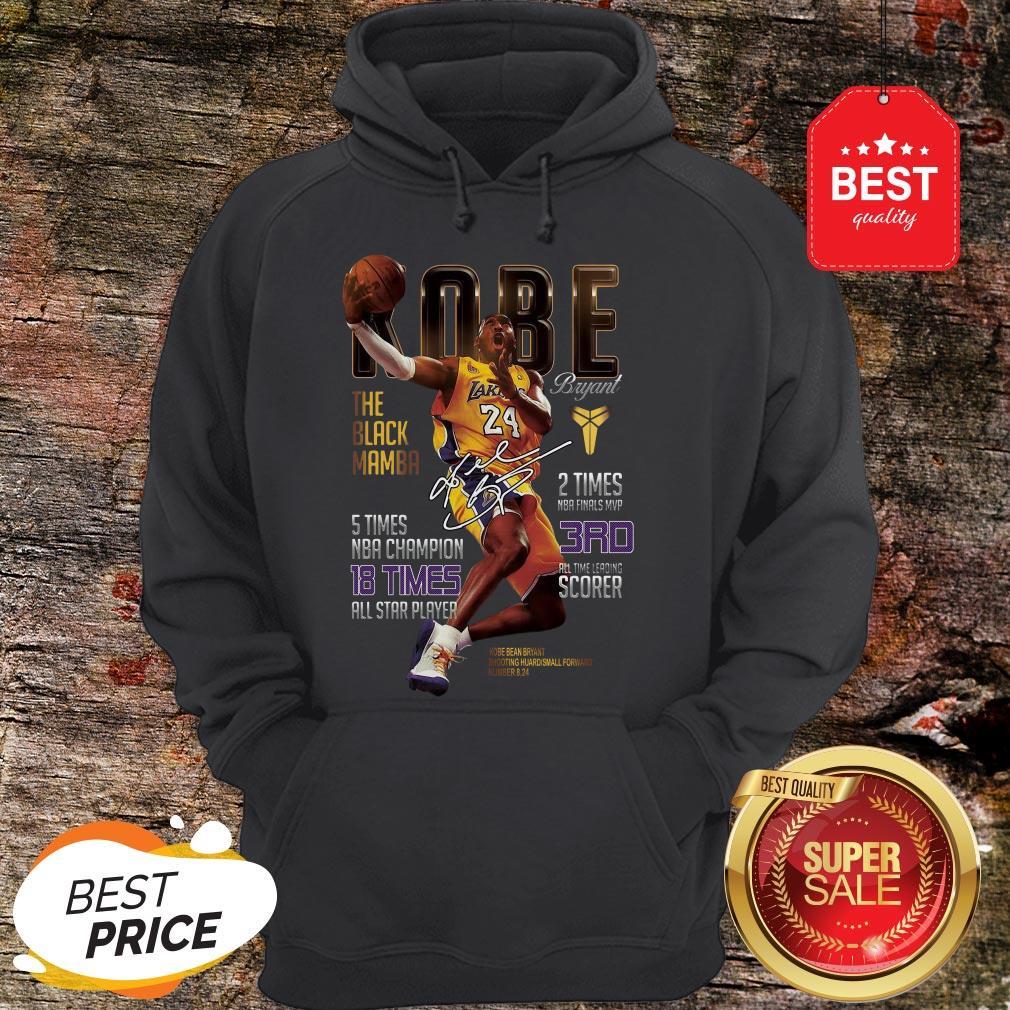 Kobe Bryants The Black Mamba 5 Times NBA Champions Signature Hoodie