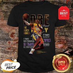 Kobe Bryants The Black Mamba 5 Times NBA Champions Signature Shirt