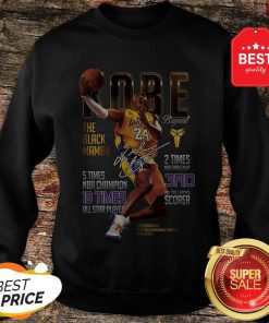 Kobe Bryants The Black Mamba 5 Times NBA Champions Signature Sweatshirt