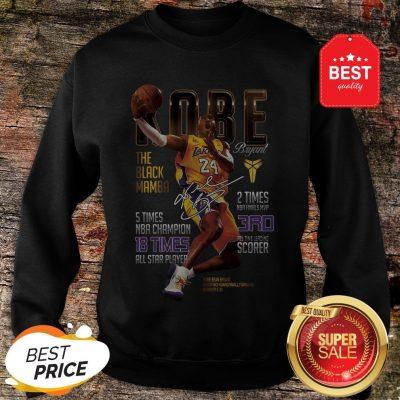 Kobe Bryants The Black Mamba 5 Times NBA Champions Signature Sweatshirt
