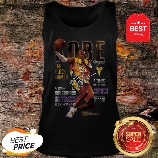 Kobe Bryants The Black Mamba 5 Times NBA Champions Signature Tank Top