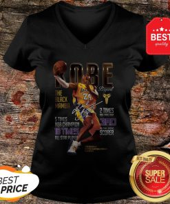 Kobe Bryants The Black Mamba 5 Times NBA Champions Signature V-neck