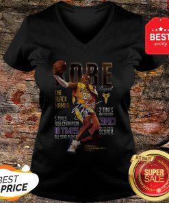 Kobe Bryants The Black Mamba 5 Times NBA Champions Signature V-neck