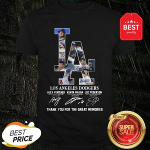 LA Los Angeles Dodgers Signature Thank You For The Great Memories shirt