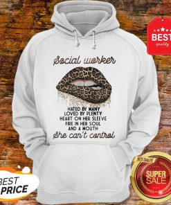 Leopard Lips Social Worker Hated By Many Loved By Plenty Heart Shirt Hoodie