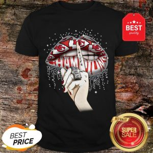 Lips Diamond Kansas City Chiefs Champions Super Bowl Shirt