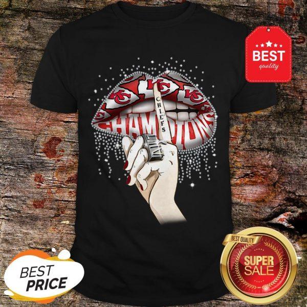 Lips Diamond Kansas City Chiefs Champions Super Bowl Shirt