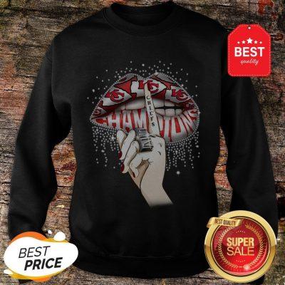 Lips Diamond Kansas City Chiefs Champions Super Bowl Sweatshirt