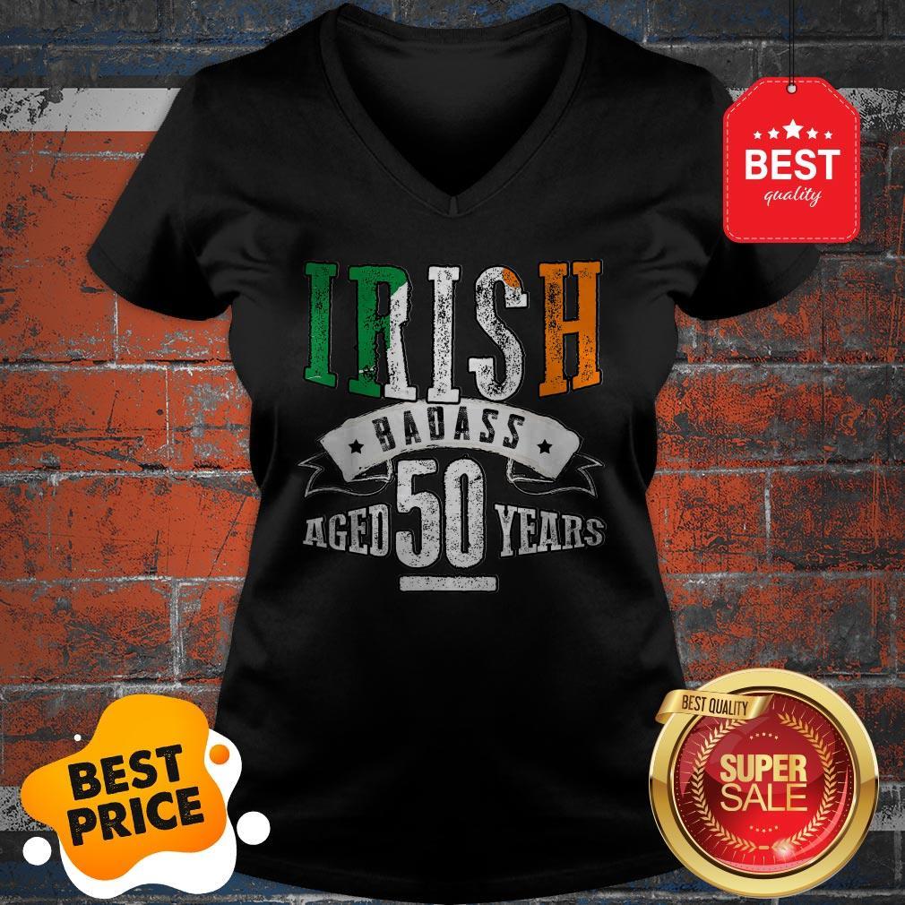 Nice 50th Irish Birthday Gifts St Patricks Day V-Neck