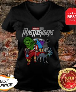 Nice Marvel Avengers Mastiff Mastivengers V-Neck
