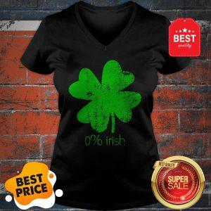 Official 0% Irish St Patricks Day Funny Men Women V-Neck