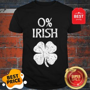 Official 0% Irish St. Patrick's Graphic T Shirt