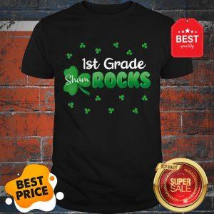 Official 1st Grade Shamrocks Funny St Patricks Day Kid Boy Girl Gift Shirt