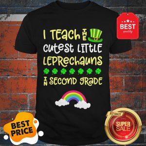 Official 2nd Grade Teacher St Patrick Day Second Rainbow Leprechauns Shirt