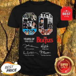 Official 60 Years Of The Beatles 1960 2020 Signatures Autographed Shirt