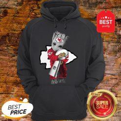 Official Baby Groot Hug Kansas City Chiefs Super Bowl Hoodie