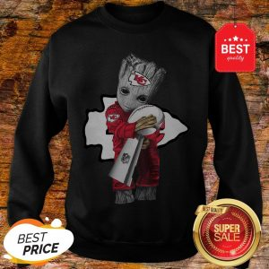 Official Baby Groot Hug Kansas City Chiefs Super Bowl Swearshirt