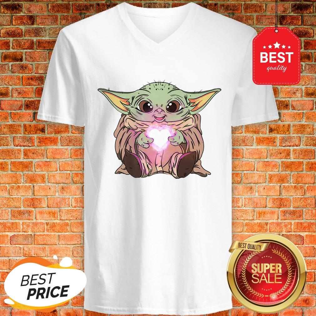 Official The Baby Yoda Adorable Kawii Star Wars Shirt V-Neck