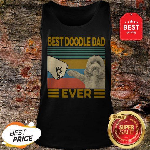 Official Best Doodle Dad Ever Vintage Tank Top