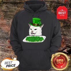 Official Cat Meme Yelling St. Patrick's Day Irish Hoodie