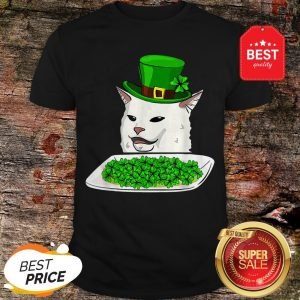Official Cat Meme Yelling St. Patrick's Day Irish Shirt