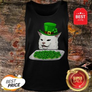 Official Cat Meme Yelling St. Patrick's Day Irish Tank Top