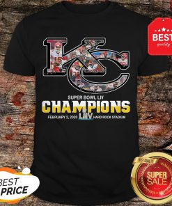 Official Kansas City Chiefs Super Bowl Liv Champions Hard Rock Stadium Shirt