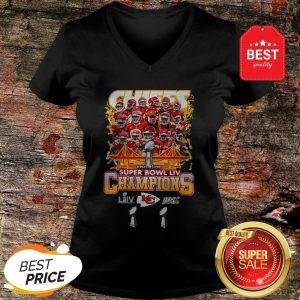 Official Kansas City Chiefs Super Bowl LIV Champs V-neck