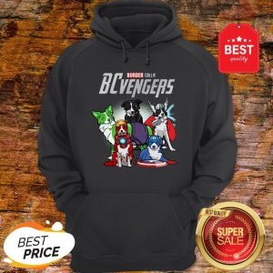 Official Marvel Avengers Endgame Border Collie Dogs BCvengers Hoodie