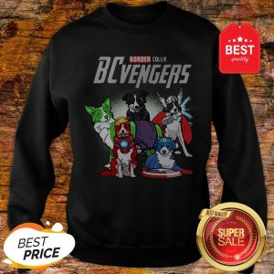 Official Marvel Avengers Endgame Border Collie Dogs BCvengers Sweatshirt