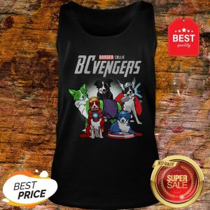 Official Marvel Avengers Endgame Border Collie Dogs BCvengers Tank Top