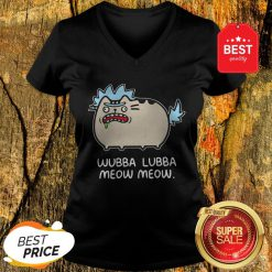 Official Rick And Morty Pusheen Wubba Lubba Meow Meow V-Neck