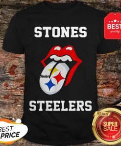 Official Rolling Stones Logo Pittsburgh Steelers Shirt