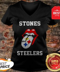 Official Rolling Stones Logo Pittsburgh Steelers V-Neck