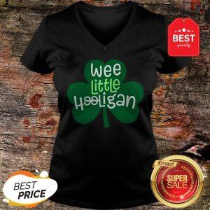Official Wee Little Hooligan T-Shirt Saint Patrick Day Gift Shirt T-V-Neck