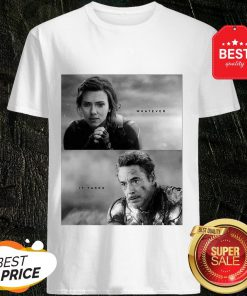 Official Whatever It Takes Black Widow And Iron Man Shirt