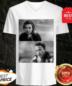 Official Whatever It Takes Black Widow And Iron Man V-Neck