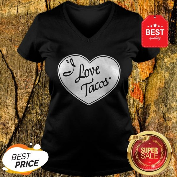 Official Women's I Love Tacos Tee By Aesop Originals V-Neck