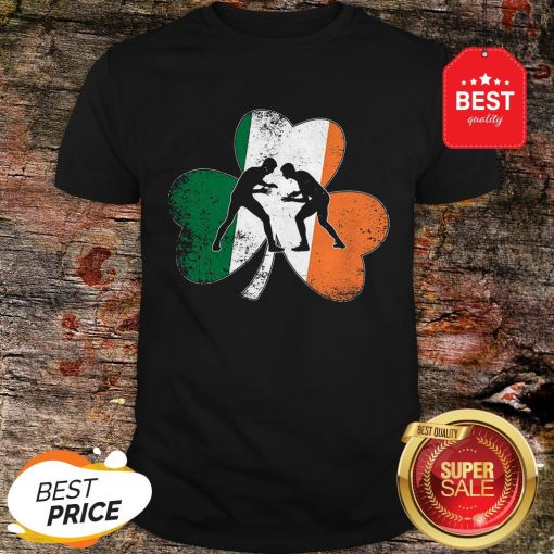 Official Wrestling St.Patrick's Day Gift Shamrock Ireland Irish Flag Shirt