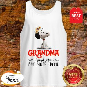Snoopy Sunflower Grandma like A Mom But More Grand Tank Top