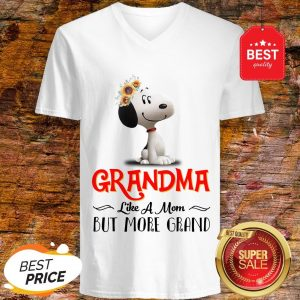 Snoopy Sunflower Grandma like A Mom But More Grand V-Neck
