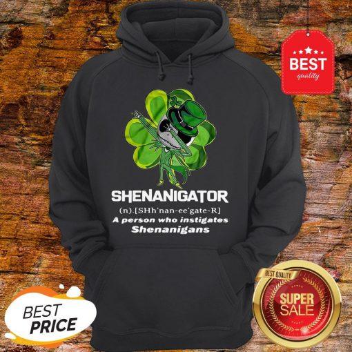 St Patrick's Day Jack Skeleton Shenanigator A Person Who Instigates Shenanigans Hoodie