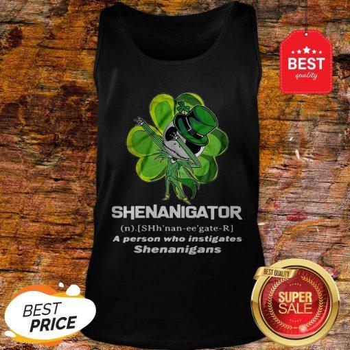 St Patrick's Day Jack Skeleton Shenanigator A Person Who Instigates Shenanigans Tank Top