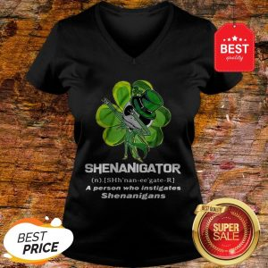 St Patrick's Day Jack Skeleton Shenanigator A Person Who Instigates Shenanigans V-Neck